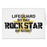 Lifeguard Rock Star by Night Greeting Card