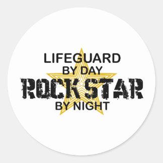 Lifeguard Rock Star by Night Classic Round Sticker
