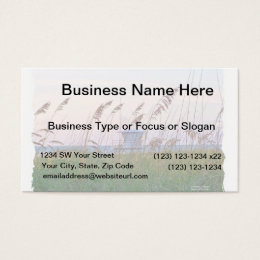 Lifeguard shack on Florida beach picture Business Card