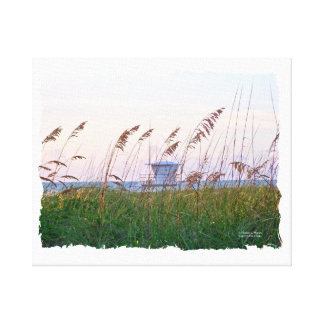 Lifeguard shack on Florida beach picture Canvas Print
