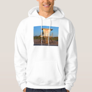 Lifeguard shack on Florida beach picture Hoodie