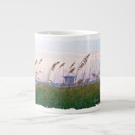 Lifeguard shack on Florida beach picture Large Coffee Mug