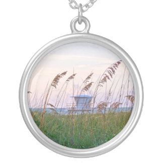 Lifeguard shack on Florida beach picture Pendant