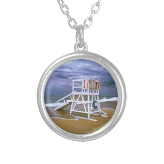 Lifeguard Stand Silver Plated Necklace