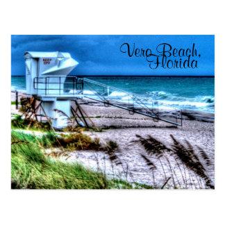 Lifeguard Stand Vero Beach Florida Postcard
