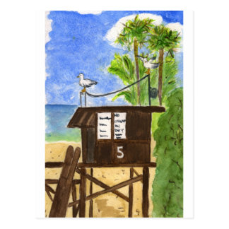 Lifeguard Station 5 Postcard