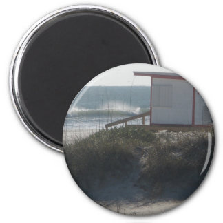 Lifeguard station at Jetty Park 2 Inch Round Magnet