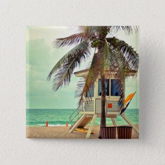 Lifeguard Station |Florida Pinback Button