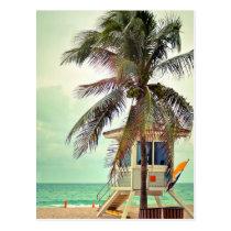 Lifeguard Station |Florida Postcard