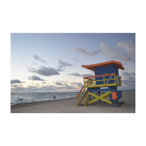 lifeguard station Miami south beach Stretched Canvas Prints