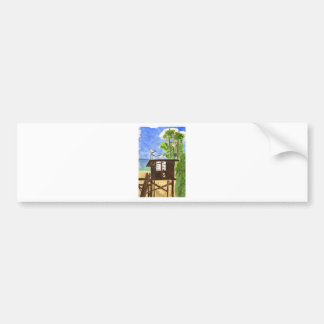 Lifeguard Station/Tower  5 Bumper Stickers