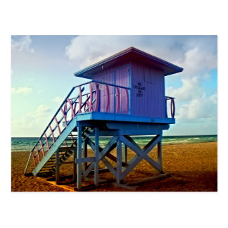Lifeguard Tower at 8th Street Postcard