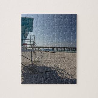 Lifeguard Tower at Panama City Beach Pier Jigsaw Puzzle