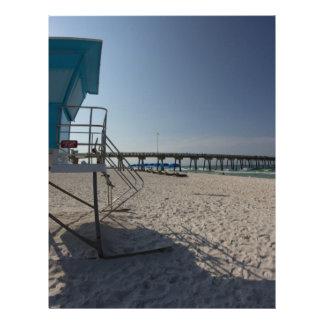 Lifeguard Tower at Panama City Beach Pier Letterhead