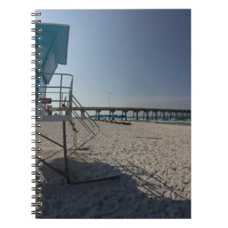 Lifeguard Tower at Panama City Beach Pier Notebook