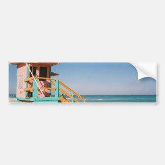 Lifeguard Tower Bumper Sticker Car Bumper Sticker