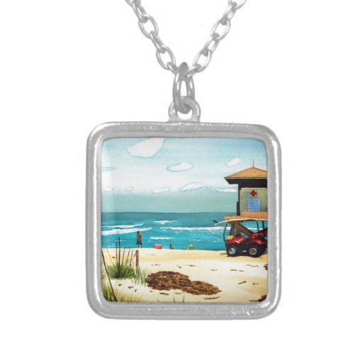 Lifeguard Tower II Personalized Necklace