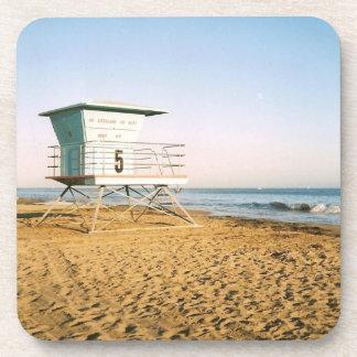 Lifeguard Tower in Santa Cruz Beverage Coaster