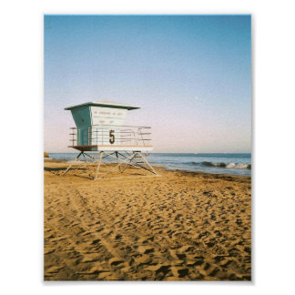 Lifeguard Tower in Santa Cruz Poster