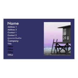 Lifeguard Tower Newport Beach Biz Cards Double-Sided Standard Business Cards (Pack Of 100)