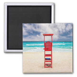 Lifeguard Tower On Beach | Cancun, Mexico Magnet