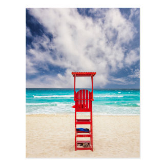 Lifeguard Tower On Beach | Cancun, Mexico Postcard