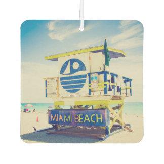 Lifeguard Tower   South Beach, Miami, Fl Car Air Freshener