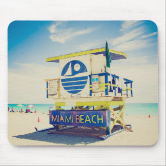 Lifeguard Tower | South Beach, Miami, Fl Mouse Pad