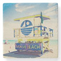 Lifeguard Tower | South Beach, Miami, Fl Stone Coaster