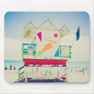 Lifeguard Tower | South Beach, Miami Mouse Pad