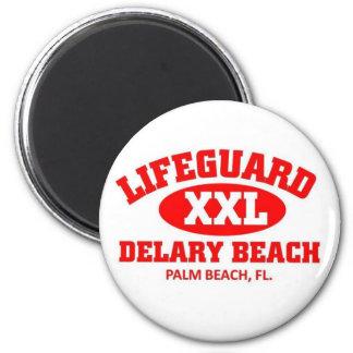 Lifeguard XXL Delary Beach 2 Inch Round Magnet