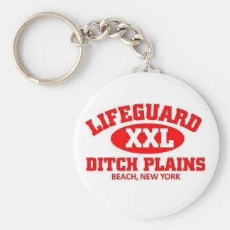 Lifeguard XXL Ditch Plains Beach Basic Round Button Keychain