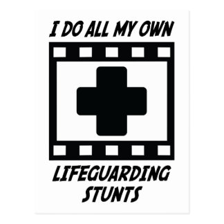 Lifeguarding Stunts Postcard
