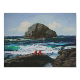 Lifeguards Relaxing At Trebarwith Strand Poster