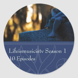 Lifeismusicistv Season 1 Format: DVD Classic Round Sticker