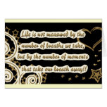 lifeisnotquote45345-altered brown cards