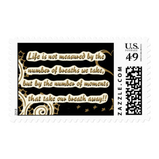 lifeisnotquote45345-altered brown postage