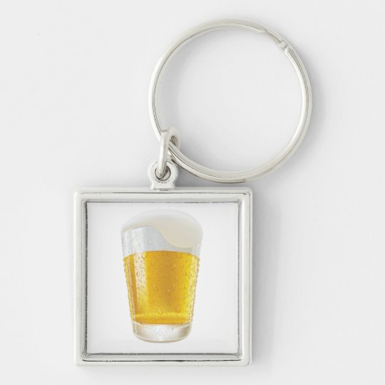 lifelike-beer-glasses-and-beer-bubbles-vector- keychain