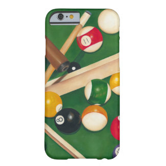 Lifelike Billiards Table with Balls and Chalk Barely There iPhone 6 Case