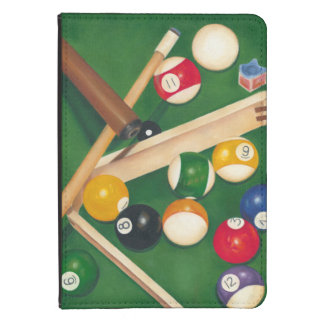 Lifelike Billiards Table with Balls and Chalk Kindle 4 Case