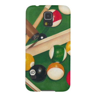 Lifelike Billiards Table with Balls and Chalk Case For Galaxy S5