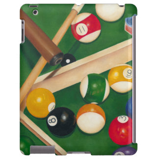 Lifelike Billiards Table with Balls and Chalk