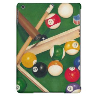 Lifelike Billiards Table with Balls and Chalk Cover For iPad Air