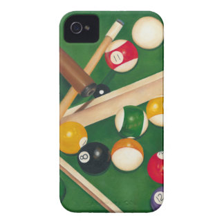 Lifelike Billiards Table with Balls and Chalk iPhone 4 Case-Mate Case