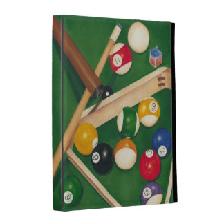 Lifelike Billiards Table with Balls and Chalk iPad Folio Cover