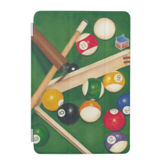 Lifelike Billiards Table with Balls and Chalk iPad Mini Cover