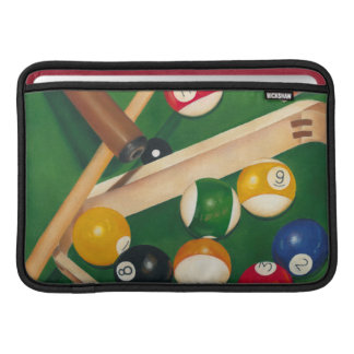 Lifelike Billiards Table with Balls and Chalk Sleeves For MacBook Air