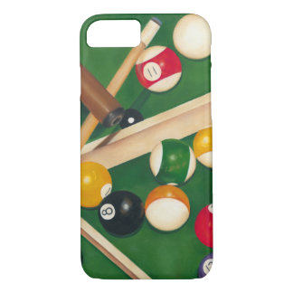 Lifelike Billiards Table with Balls and Chalk iPhone 8/7 Case