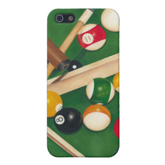 Lifelike Billiards Table with Balls and Chalk iPhone SE/5/5s Cover