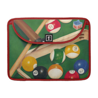 Lifelike Billiards Table with Balls and Chalk MacBook Pro Sleeves